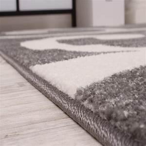 tour de lit tapis de couloir moderne gris blanc3 pieces With tapis de couloir avec canapé lit but