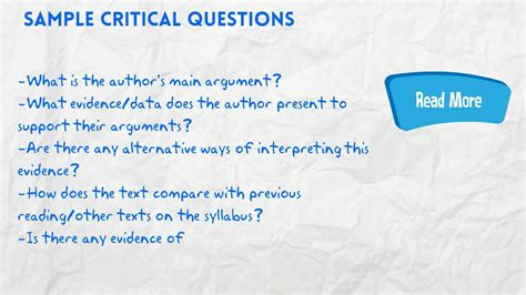 Critical Reading Youtube