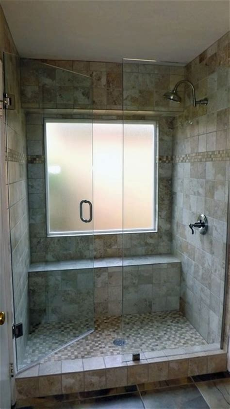standard bathroom conversion  full shower modern