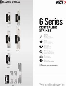 Rci 6 Series Heavy Duty Electric Strike Product Sheet Zl6