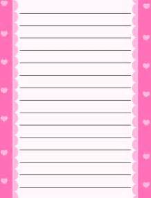 free printable stationery for free lined writing paper