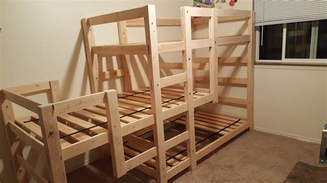 Bunk Bed by White Bunk Bed Diy Projects