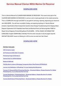Service Manual Clarion M255 Marine Cd Receive By