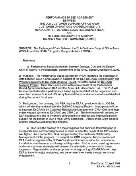 memorandum  agreement template army sampletemplatess