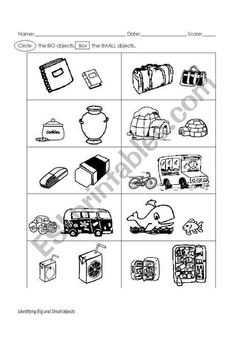 the big worksheet big and small worksheet esl worksheet by ninabonita