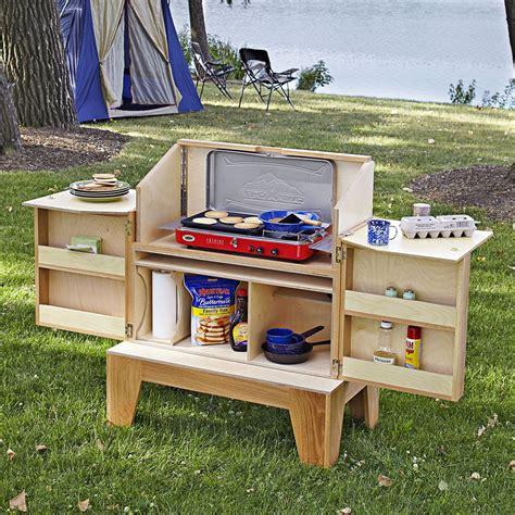 camp kitchen woodworking plan  wood magazine outdoor