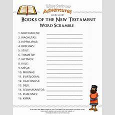 Free Bible Worksheet Books Of The New Testament  Bible Study  Bible Quiz, Bible Games, Sunday