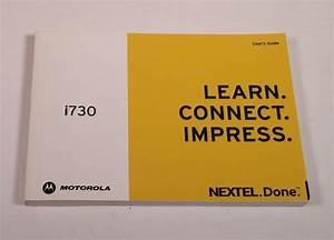 Manual    User Guide For Motorola I730 Cell Phone