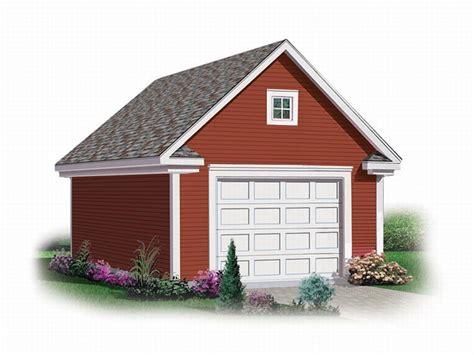 Detached 1-car Garage Loft Plan # 028g