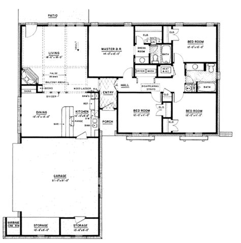 1 home plans ranch style house plans 3000 square home 1 4