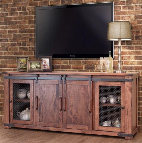entertainment cabinet with doors rustic 80 quot tv stand barn door rustic tv stand