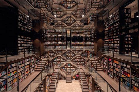 gorgeous bookstore  china  escher styled crazy