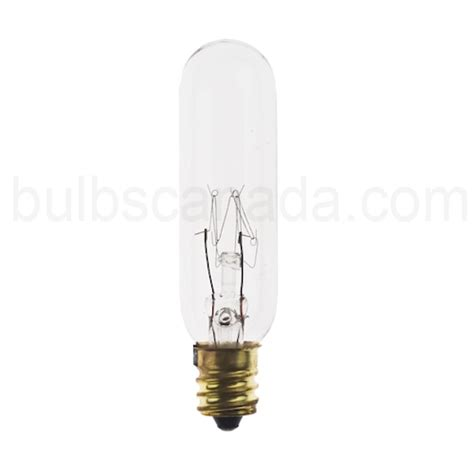 15w tubular clear candelabra base 145v exit light