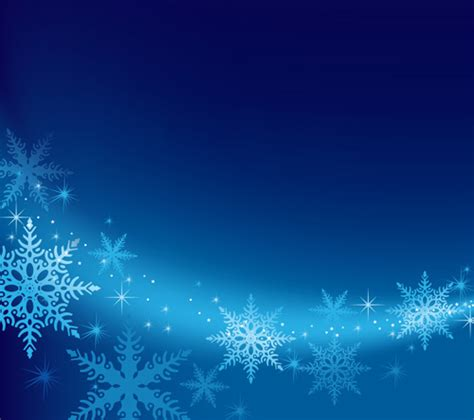 Background Winter Template by Blue Snowflake Winter Background Free Vector