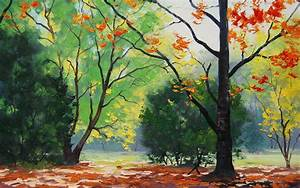 Drawing Trees In Autumn Wallpapers - 2560x1600 - 1754153