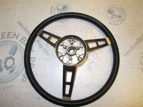 Boat Steering Wheel Shaft by Vintage Boat Stainless Steel 14 In Steering Wheel 3 Spokes