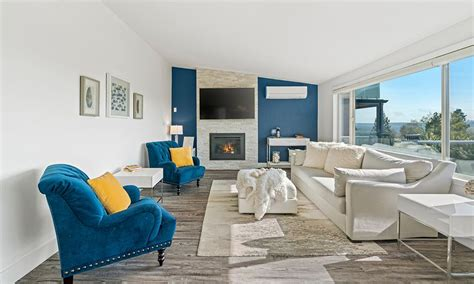 blue white wall colour combination for living room