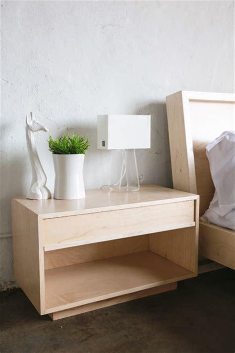 maple bedside table modern nightstands  bedside