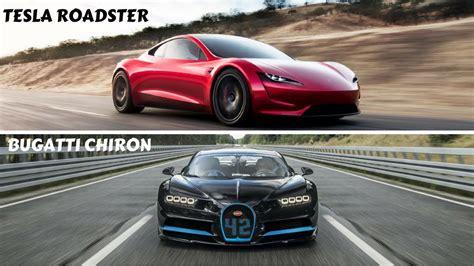 Bugatti Chiron Roadster by Bugatti Chiron Vs Tesla Roadster