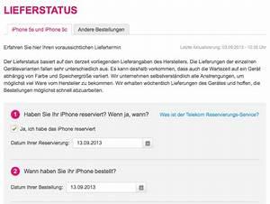 Telekom Rechnung Einsehen : iphone 5s und iphone 5c lieferstatus bei der telekom abfragen macerkopf ~ Themetempest.com Abrechnung