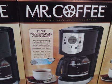 To hide it, choose ship in amazon packaging at checkout. Costco Price Cut: Mr. Coffee 12 Cup Programmable Coffee Maker With Stainless Steel Accents $24 ...
