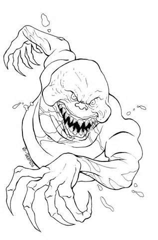 Scary Monster Coloring Pages For Kids Coloring Pages Of