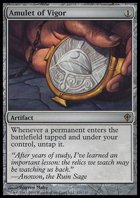 Amulet Of Vigor Deck amulet of vigor wwk mtg card