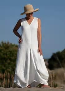 Long White Linen Summer Dresses