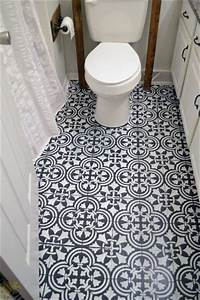 How To Stencil A Tile Pattern On A Bathroom Floor