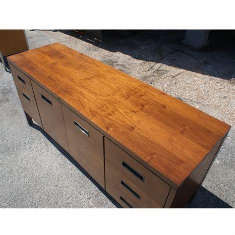 Steelcase Credenza - 65 quot vintage steelcase walnut credenza file cabinet ebay