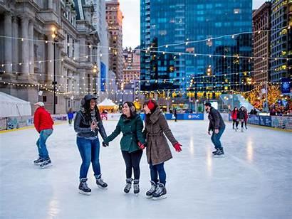 Philadelphia Park Dilworth Rink Ice Winter Skating