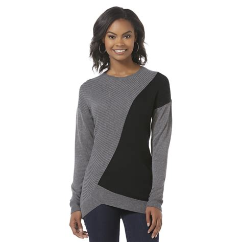 Attention Womens Pullover Sweater Colorblock Shop