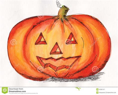 Halloween Pumpkin Face Stock Illustration  Image 45387471