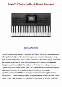 Casio Vz1 Workshop Repair Manual Download By Koreykerr