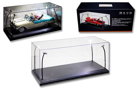 scale model display cabinet diecast auto world led lighted collectors showcase