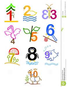 Clip Art Numbers 1-10