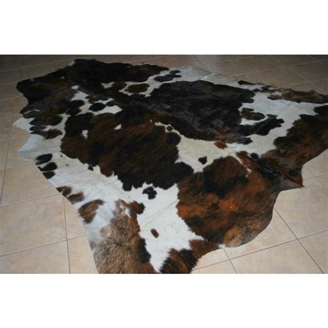 White Cowhide Rugs For Sale by Tricolor Black White Cowhide Rug For Sale