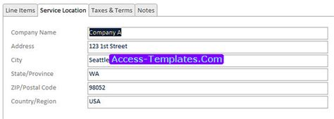 access templates for small business access templates of invoicing software for small business database