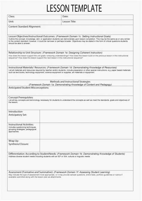 Sample Esl Lesson Plan Template – esl lesson plan template