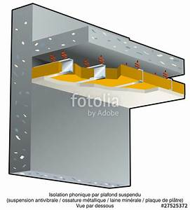 QuotBruit Lisolation Phonique Plafond Suspendu Bquot Photo