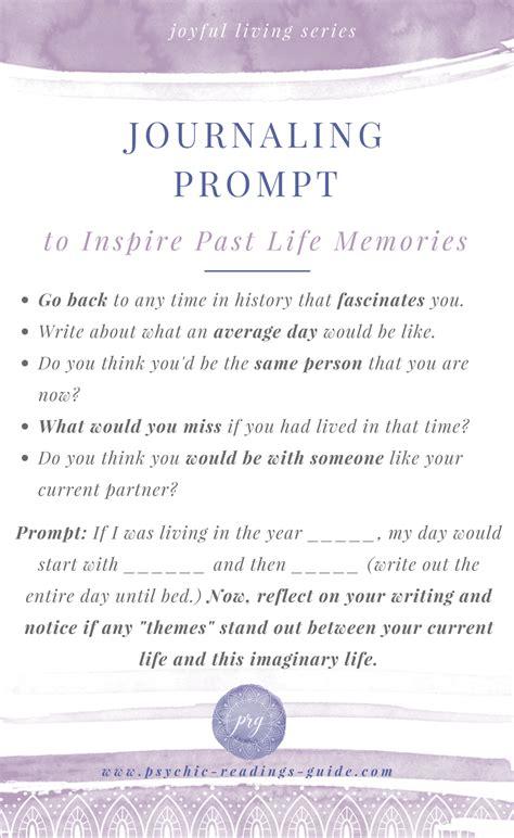 journaling prompt  inspire  life memories   list