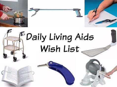 Daily Living Aids Wish List When Tania Talks