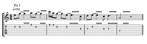 A page of tablature tells you what notes to play to make the song happen. 27-Playing-With-Expression-Part-1-Ex-1 - Fundamental Changes Music Book Publishing