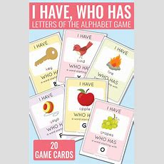 I Have Who Has Alphabet Game  Easy Peasy Learners