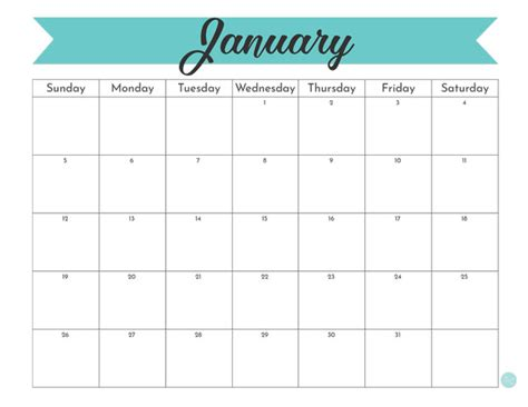 january  calendar  printable  craft eat