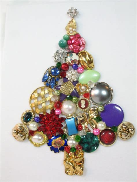 framed vintage jewelry christmas tree north by sunny day