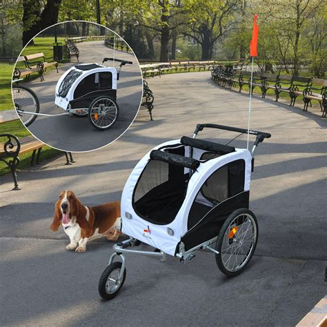 aosom    pet dog bike bicycle trailer stroller jogger