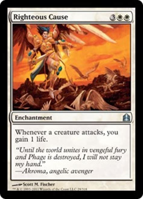 Causal Enchantment Deck Mtg by Righteous Cause Enchantment Cards Mtg Salvation