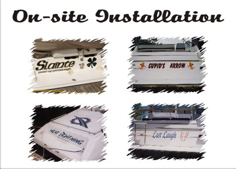 Boat Decals In Pittsburgh by Custom Boat Lettering Boat Marine Decals In Loving