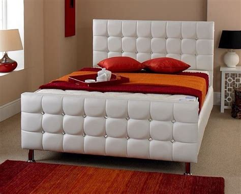 Beds For Sale by Beds For Sale Best Price Faux Leather White Single Beds